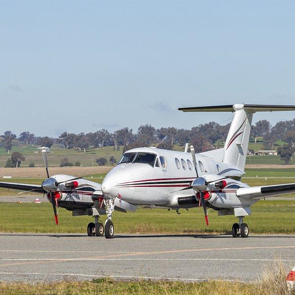 Newcastle Private Aircraft Hire Beechcraft KingAir B200